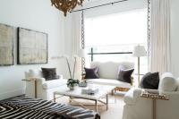 Striped Sofa - Transitional - living room - Liz Levin ...