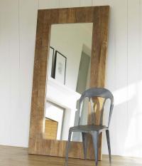 Classic Brown Floor Mirror