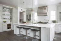 Kitchen with Nautical Cage Pendants - Transitional - Kitchen