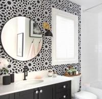 Bathroom Wallpaper Black And White | www.pixshark.com ...