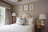 Chic Grey Bedrooms with Yellow Accents - Transitional ...