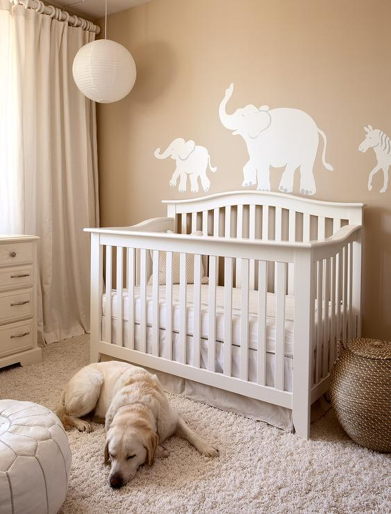 Pinterest Girls Kids Rooms With Wood Wallpaper Nursery With Tan Wall Color Transitional Nursery