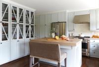 Kitchen with Chicken Wire Cabinet Doors - Cottage - Kitchen