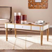 Upton Home Champagne Gold Fontaine Mirrored Cocktail ...