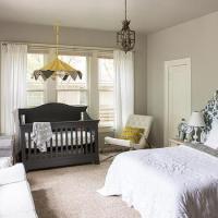 Master Bedroom And Nursery Combo Design Ideas