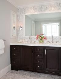 Geometric Marble bathroom Backsplash - Transitional - Bathroom