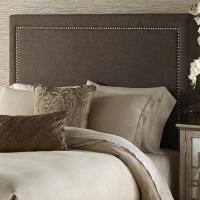 Brown Queen-Size Upholstered Headboard