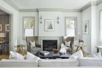 Living Room Crown Moldings Design Ideas