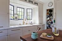 Kitchen Sink In Bay Window - Transitional - Kitchen