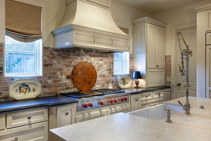 red brick kitchen backsplash cottage kitchen white cabinets grey backsplash kitchen subway tile outlet
