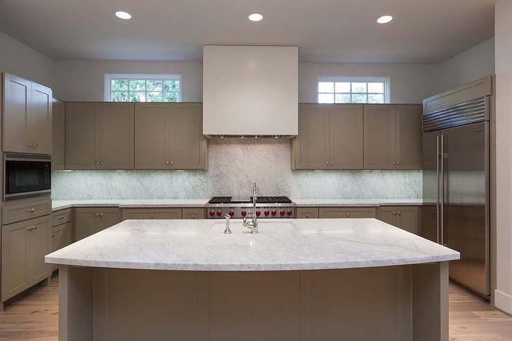 Light Grey Paint Taupe Kitchen Cabinets Design Ideas