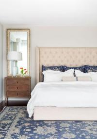 Cream and Blue Bedroom Ideas - Transitional - Bedroom
