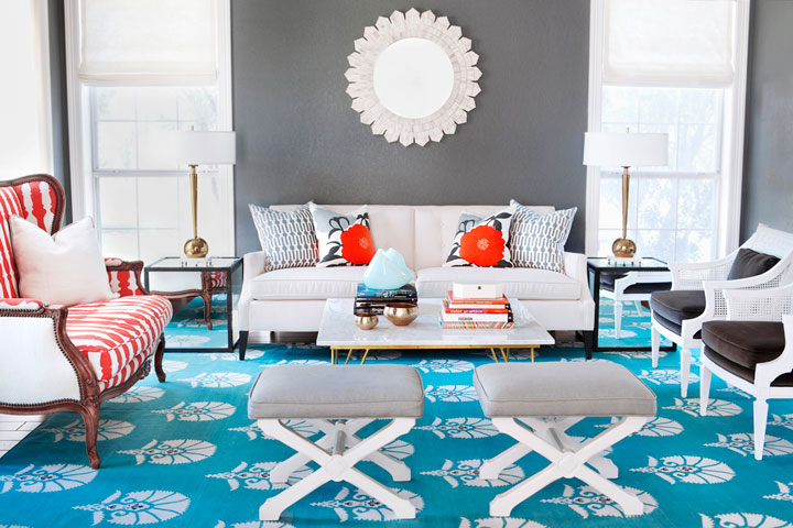 Gray and Turquoise Living Room - Contemporary - Living Room - grey and turquoise living room