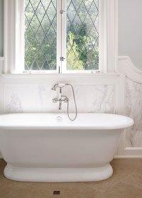 French Leaded Glass Windows - Transitional - Bathroom