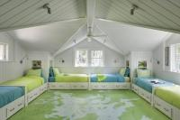 Kids Room with Painted Map Floor - Cottage - Boy's Room