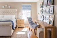 Bedroom Desk with Overhead Picture Ledges - Transitional ...