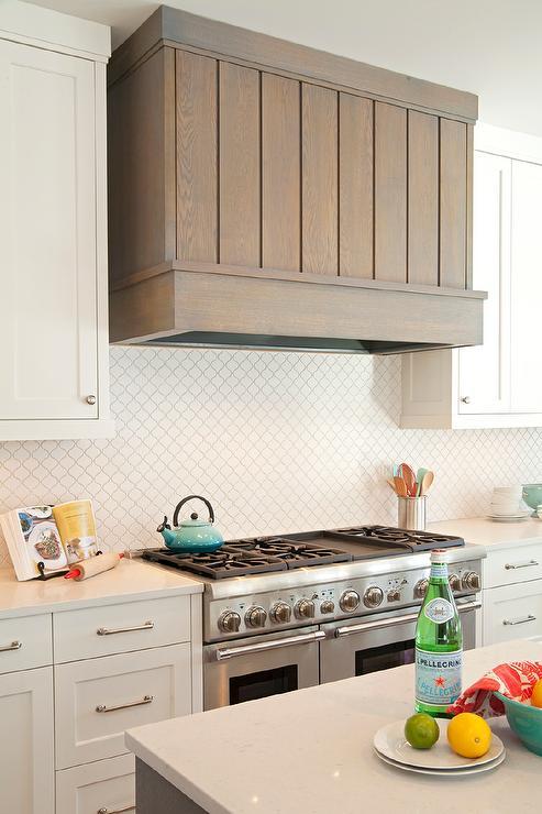 kitchen white moroccan tile backsplash gray plank kitchen hood backsplash tile