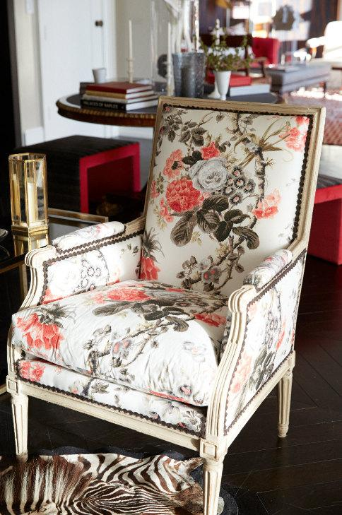 Black And Pink Floral Wallpaper Schumacher English Country Floral Chintz Cotton Toile