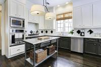 Freestanding Stainless Steel Island with Shelf ...