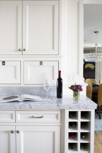 Kitchen with Under The Counter Built In Wine Rack