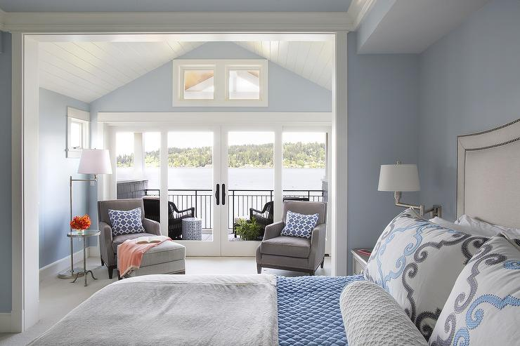 Really Cute Teal Teal Wallpaper Bedroom Sitting Room With Vaulted Ceiling Design Ideas