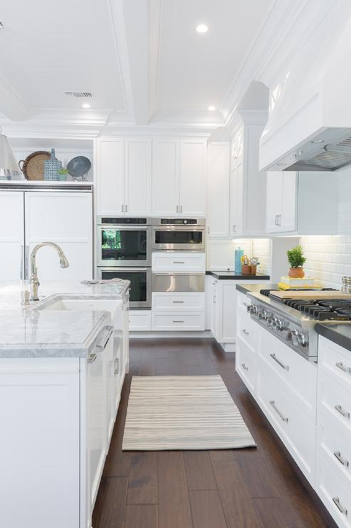 What Size Is A Kitchen Island Double Ovens Next To Warming Drawer