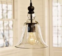 Pottery Barn Rustic Glass Indoor Outdoor Pendant Look for Less