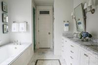 Long and Narrow Master Bathroom Ideas - Transitional ...