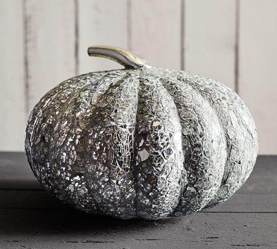 Laundry Room Lighting Glass Mosaic Pumpkin In Silver