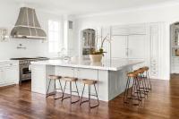 Oversized Kitchen Island with Smart and Sleek Stools ...