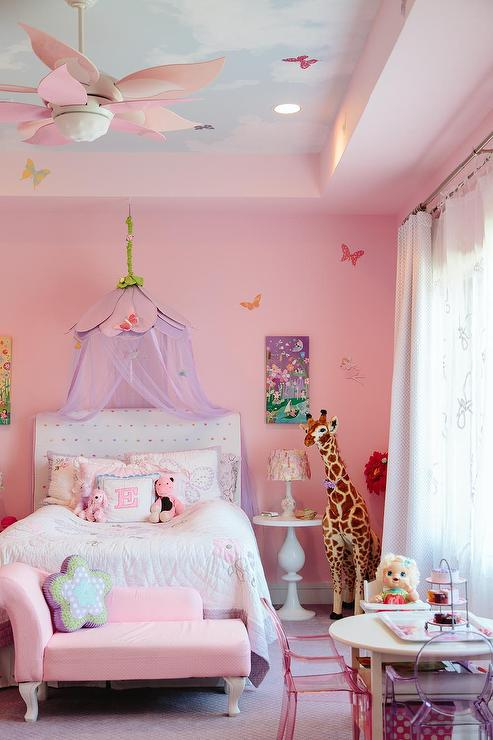 Pink Princess Room with Cloud Ceiling
