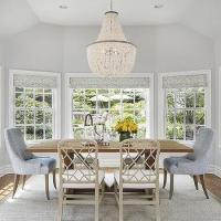 Light Grey Dining Room Paint Design Ideas
