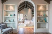 Built In Bookcases Flanking Arched Doorway - Transitional ...
