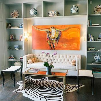 Cream Tufted Sofa