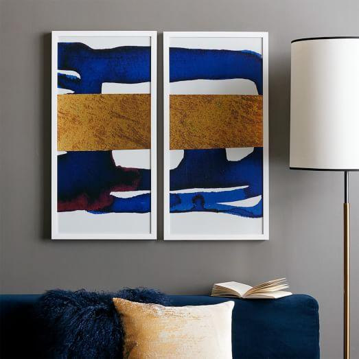 Zgallerie Touch Of Gold I And Ii Gray And Gold Wall Art