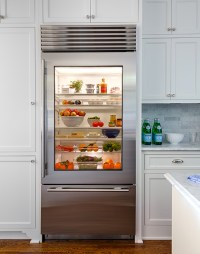 Glass Front Refrigerator with Freezer Drawer ...