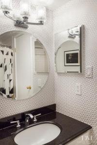 Download Black And Silver Bathroom Wallpaper Gallery
