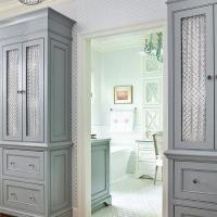 Chicken Wire Cabinet Doors - Transitional - kitchen ...