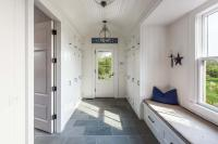 Long Cottage Mudroom with Beadboard Barrel Ceiling ...