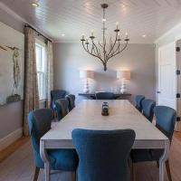 Grey Faux Bois Dining Chairs Design Ideas