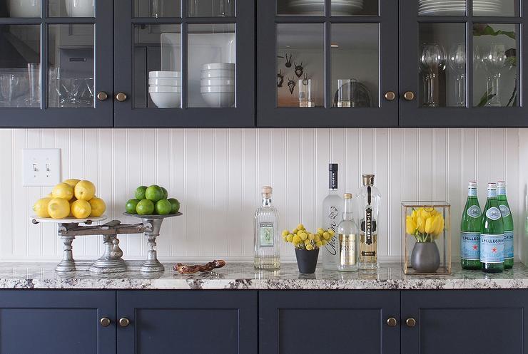 fantastic kitchen features navy navy blue cabinets paired white white kitchen cabinet glass metal backsplash tile backsplash