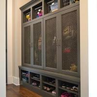 Open Mudroom Lockers - Transitional - Laundry Room - Blue ...
