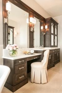 Drop Down Makeup Vanity - Traditional - bathroom - Jane ...