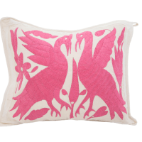 Pink Mexican Otomi Pillow