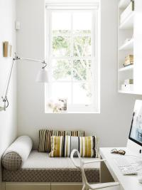 Small Office with Reading Nook - Modern - Den/library/office