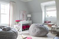 Pink and Gray Teen Girl Bedroom Design - Contemporary ...