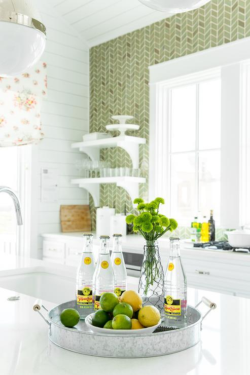 coastal living showhouse white green kitchen features white ann sacks kitchen backsplash contemporary kitchen airoom