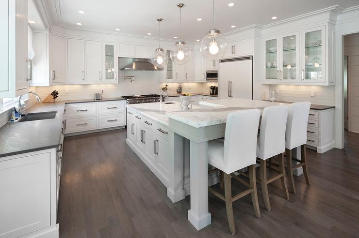 gray kitchen island raised breakfast bar white parsons bar stools beautiful kitchen island photos decobizz