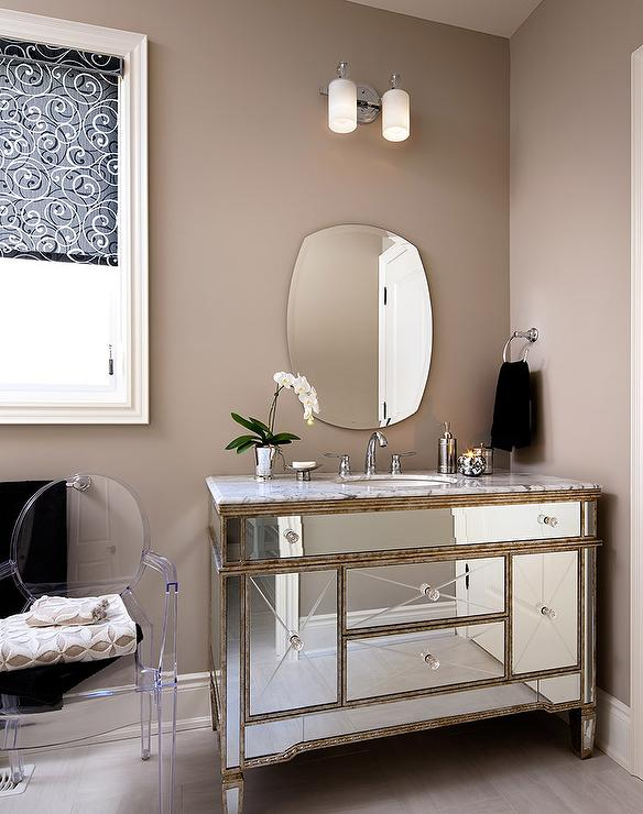 Mirrored Desk Ikea Borghese Mirrored Bathroom Vanity Design Ideas