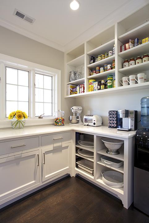 Open Kitchen Pantry Shelves Design Ideas